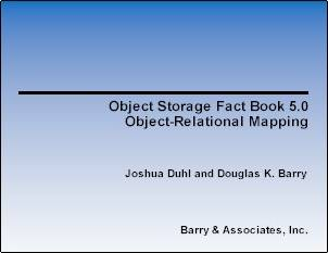Object Storage Fact Book: Object-Relational Mapping